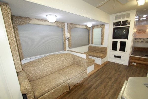 Cordless cellular shades in customer RV