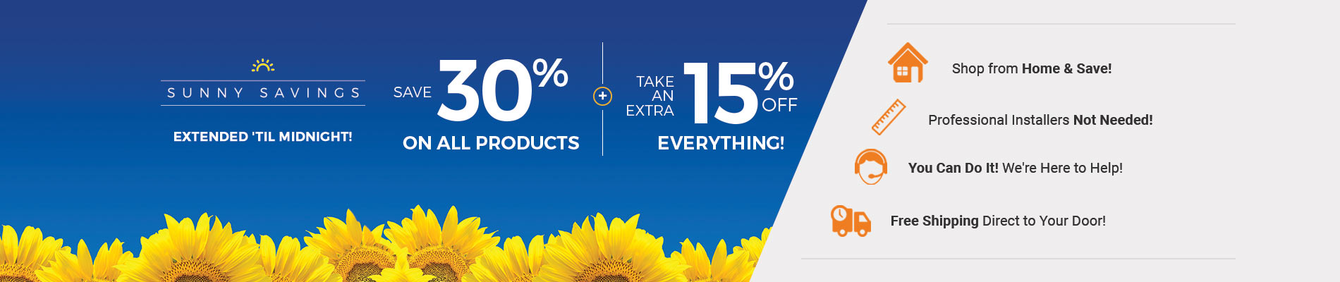 Save 30% + Extra 15%