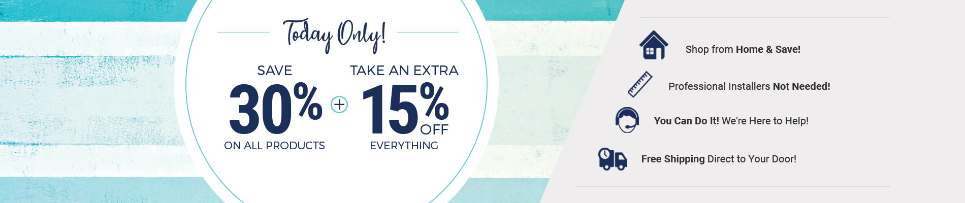 Save 30% + Extra 15% Off Everything