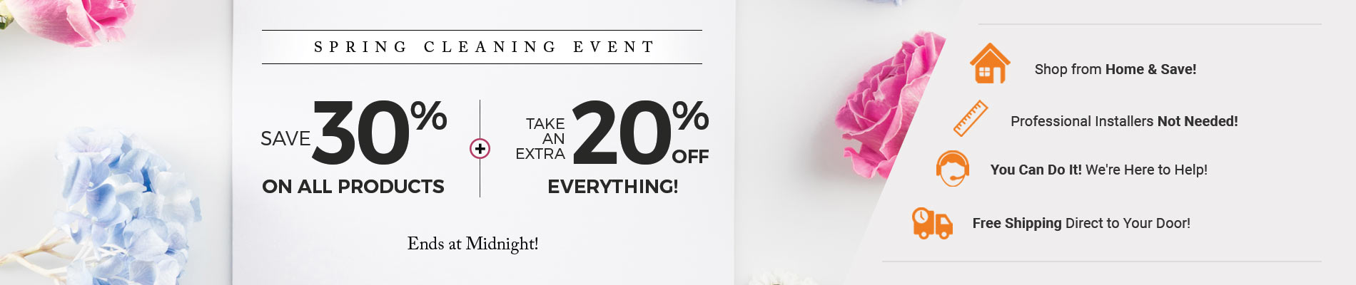 Save 30% on All Products+ 20% Off Everything