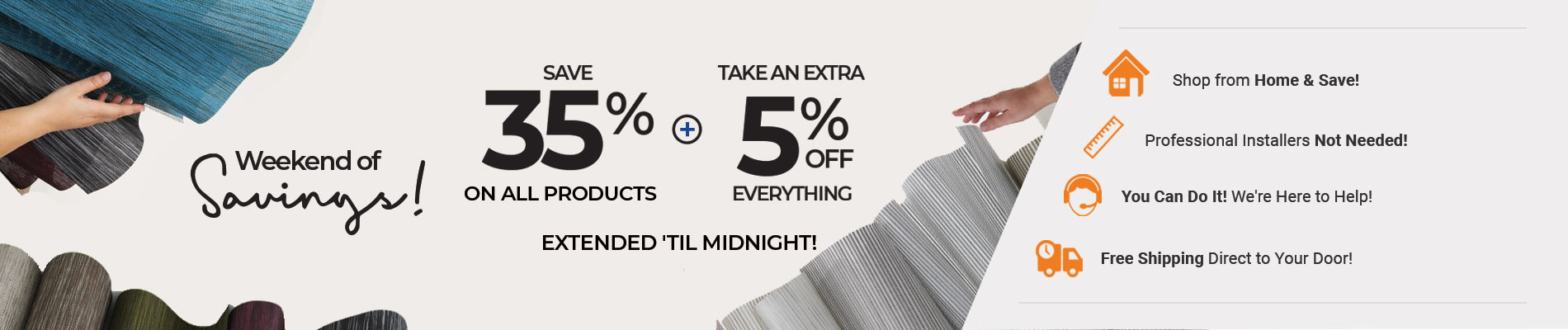 Save 35% + Extra 5% Off Everything