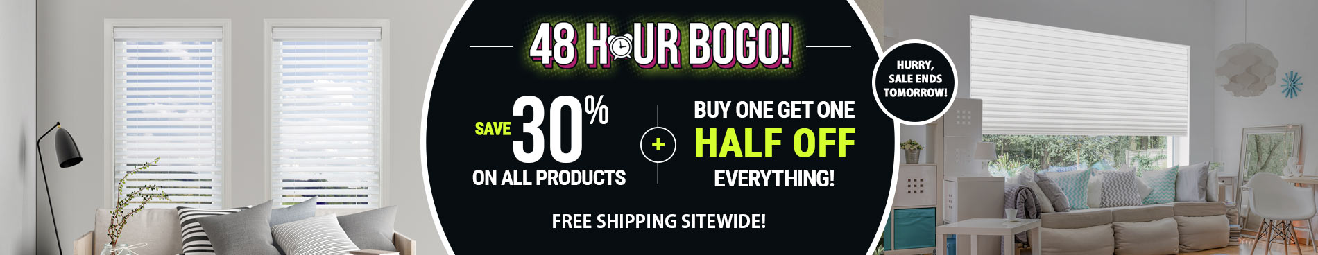 Save 30% + BOGO Half Off