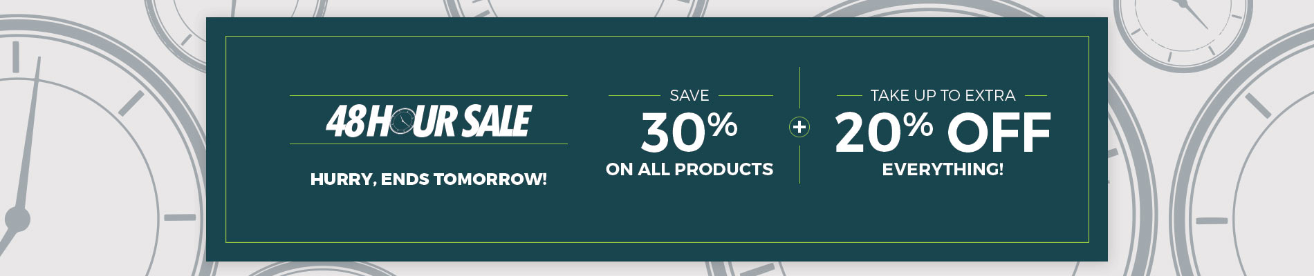 Save 30% + Take Up To 15% Off
