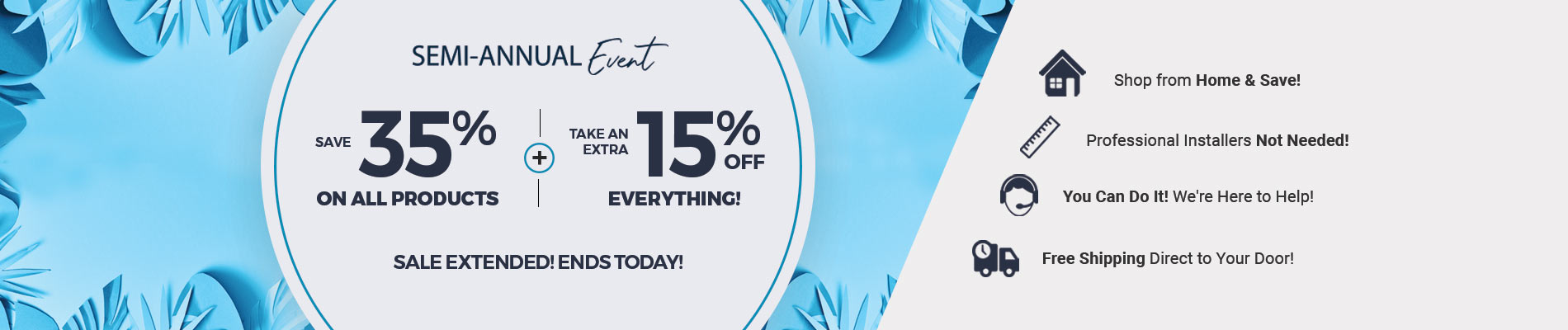 Save 35% + Extra 15% Off Everything