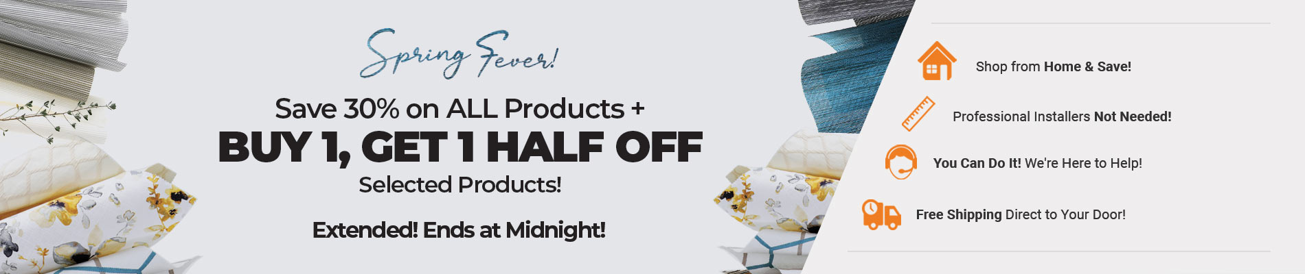 Save 30% on Everything + BOGO Half Off Selected Products