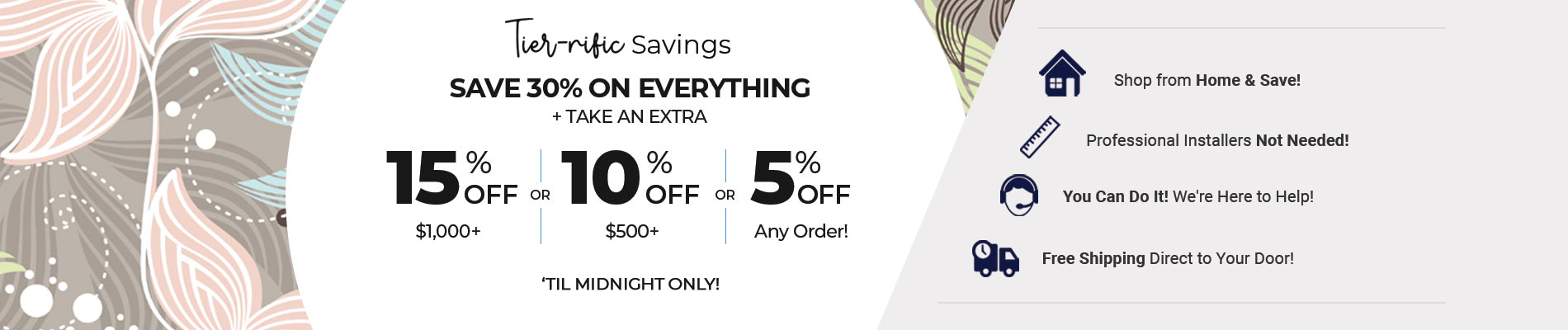 Save 30% + Up To Extra 15% Off