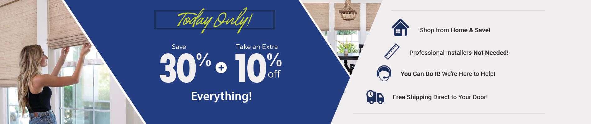 Save 30% + Take an Extra 10% Off