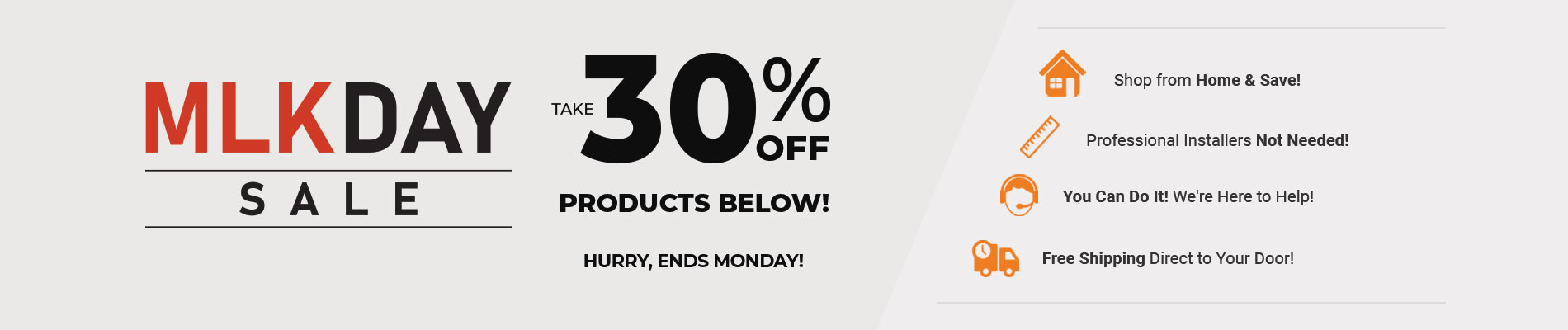 Save 30% on All Products Below